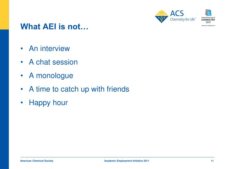 What AEI is not…