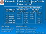 example fatal and injury crash rates for nc