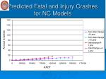 predicted fatal and injury crashes for nc models