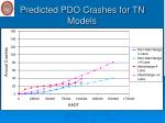 predicted pdo crashes for tn models