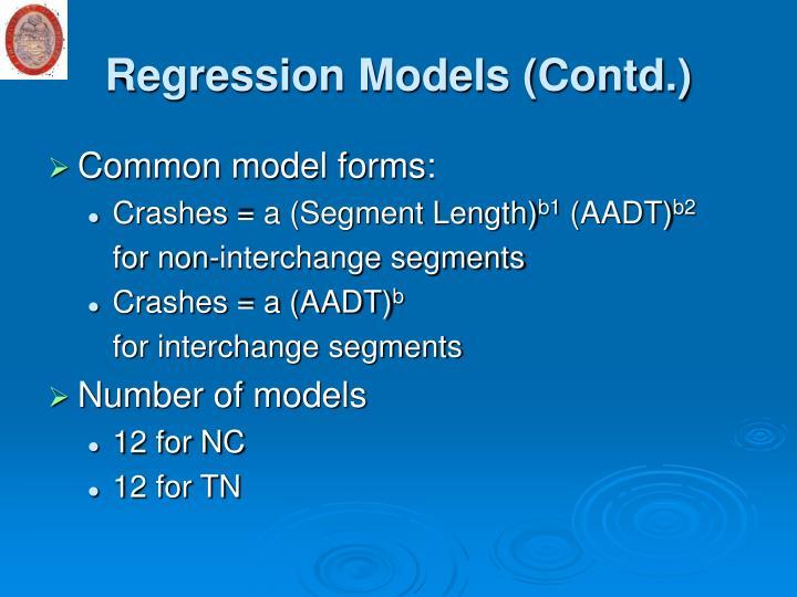 Regression Models (Contd.)