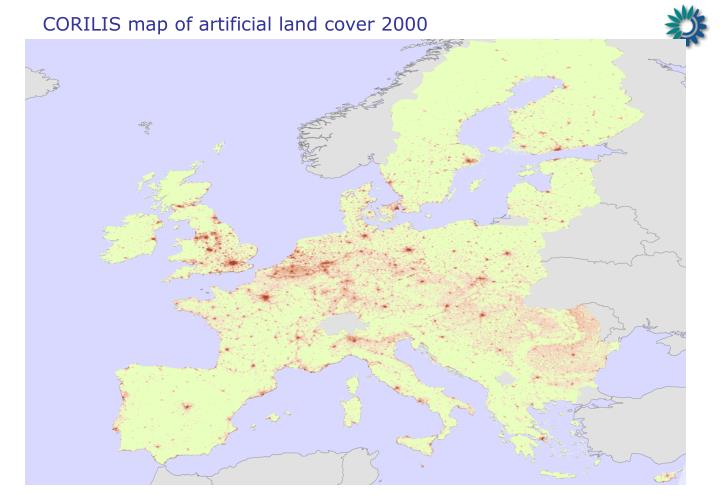 CORILIS map of artificial land cover 2000