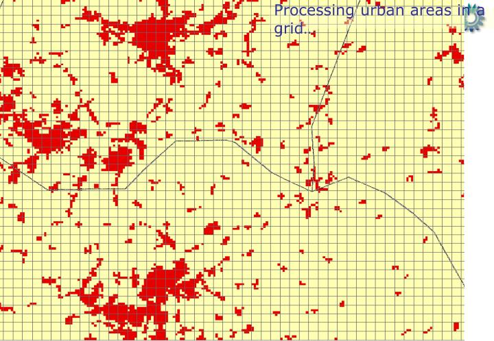 Processing urban areas in a grid…