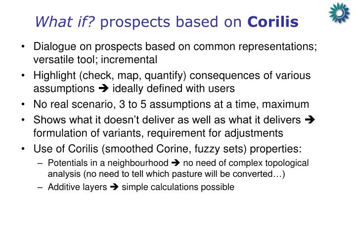 What if prospects based on corilis1