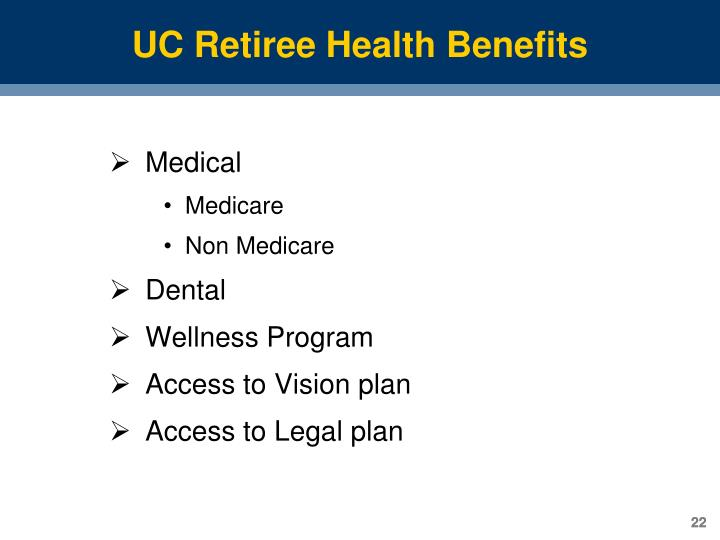 UC Retiree Health Benefits