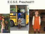 e c s e preschool