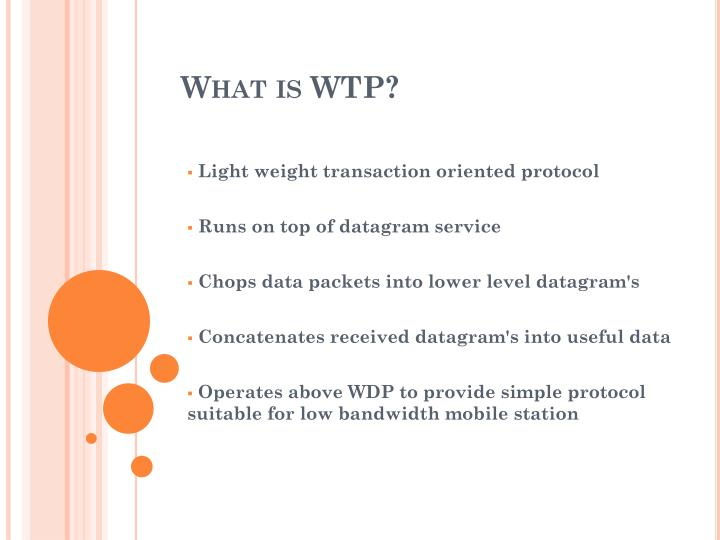What is WTP?
