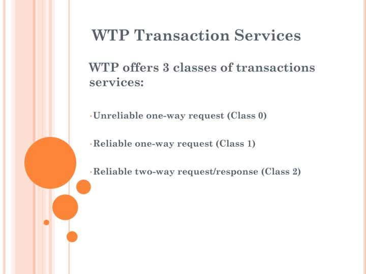 WTP Transaction Services
