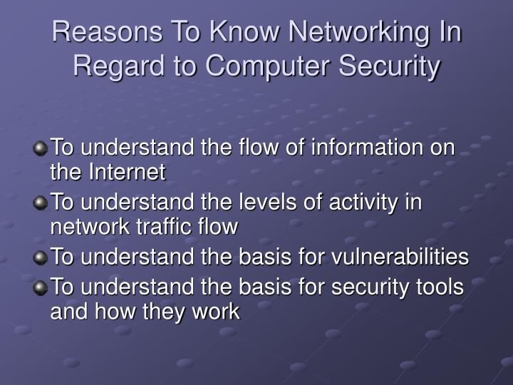 Reasons To Know Networking In Regard to Computer Security
