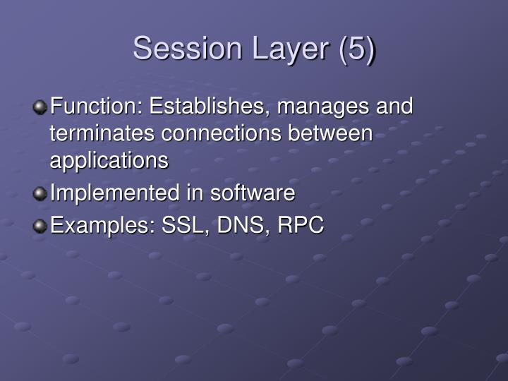 Session Layer (5)