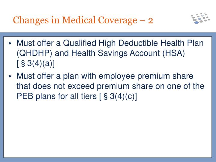 Must offer a Qualified High Deductible Health Plan (QHDHP) and Health Savings Account (HSA) [§3(4)(a)]