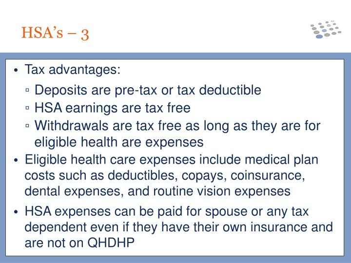 Tax advantages: