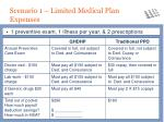scenario 1 limited medical plan expenses