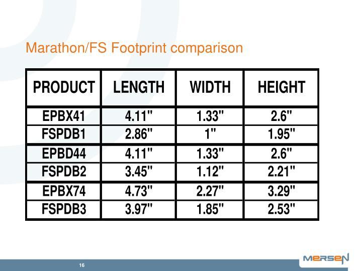 Marathon/FS Footprint comparison