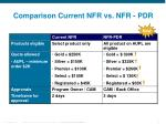 comparison current nfr vs nfr pdr