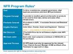 nfr program rules