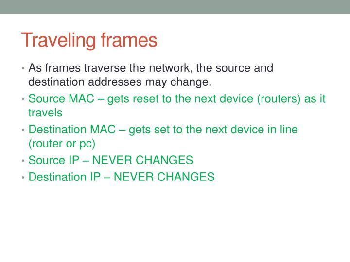 Traveling frames