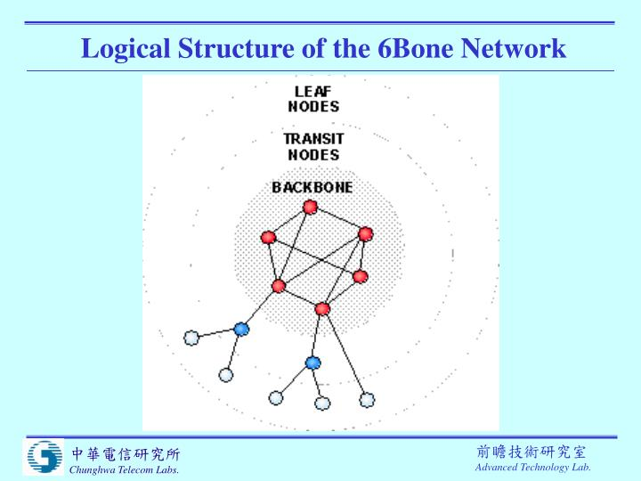 Logical Structure of the 6Bone Network
