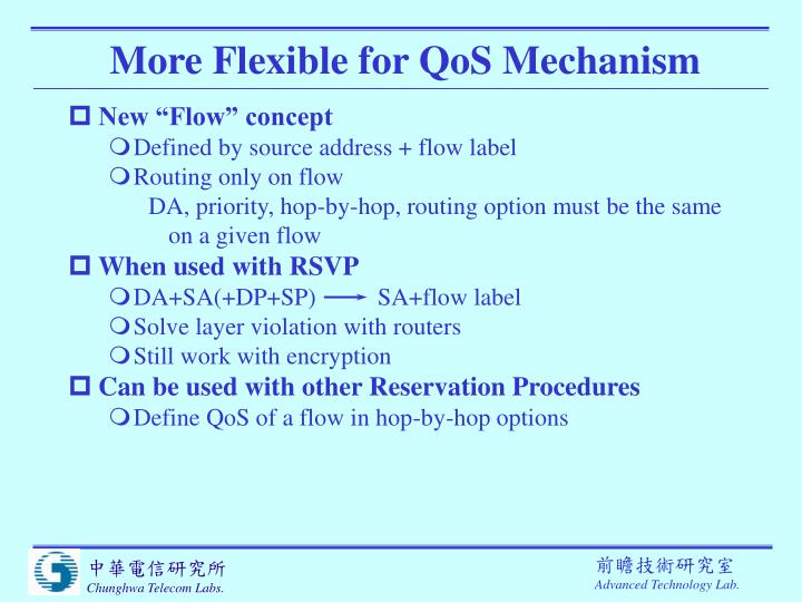 More Flexible for QoS Mechanism