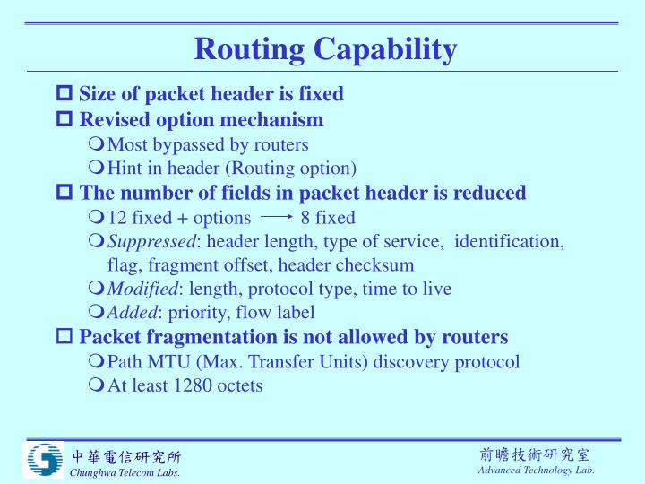 Routing Capability