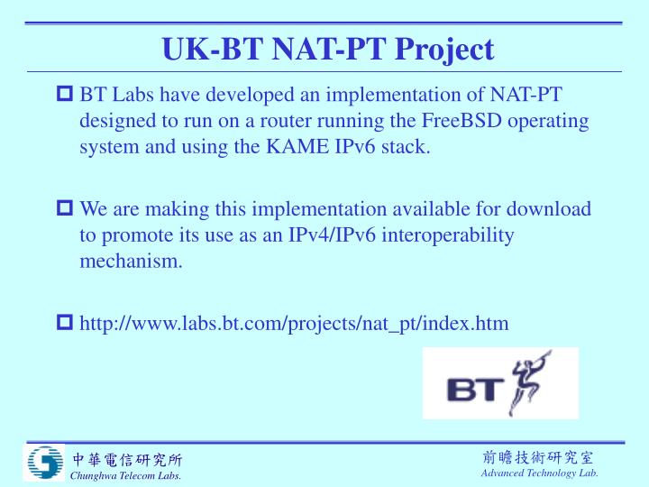 UK-BT NAT-PT Project