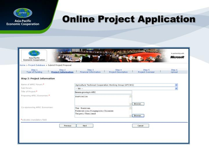 Online Project Application
