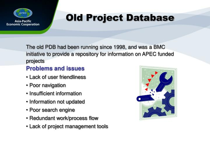 Old Project Database