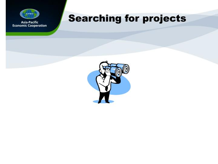 Searching for projects