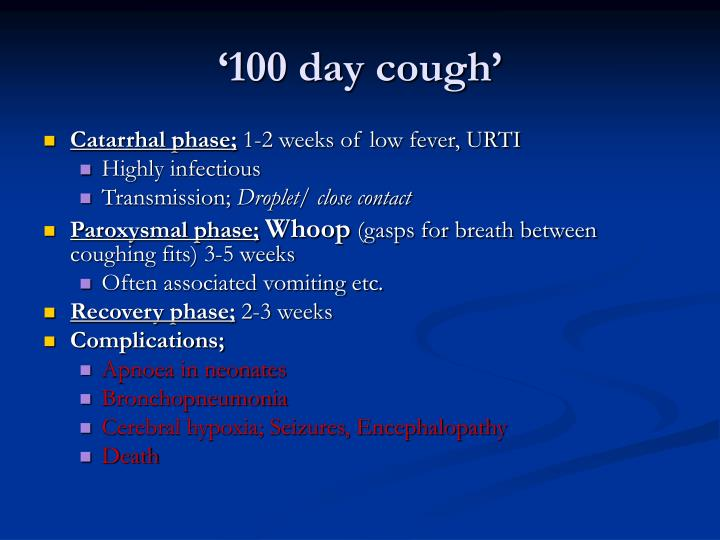 '100 day cough'