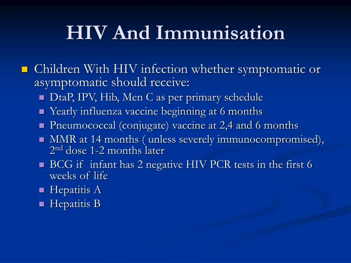 HIV And Immunisation