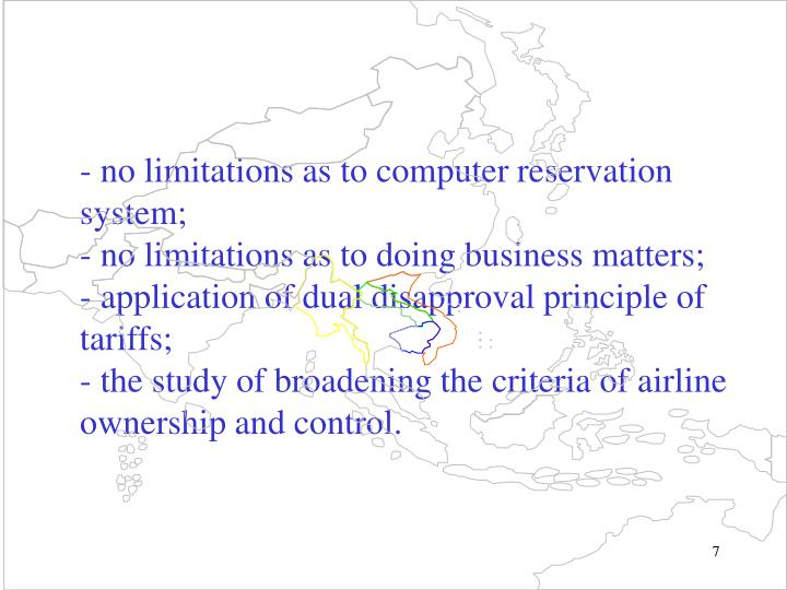-no limitations as to computer reservation system;