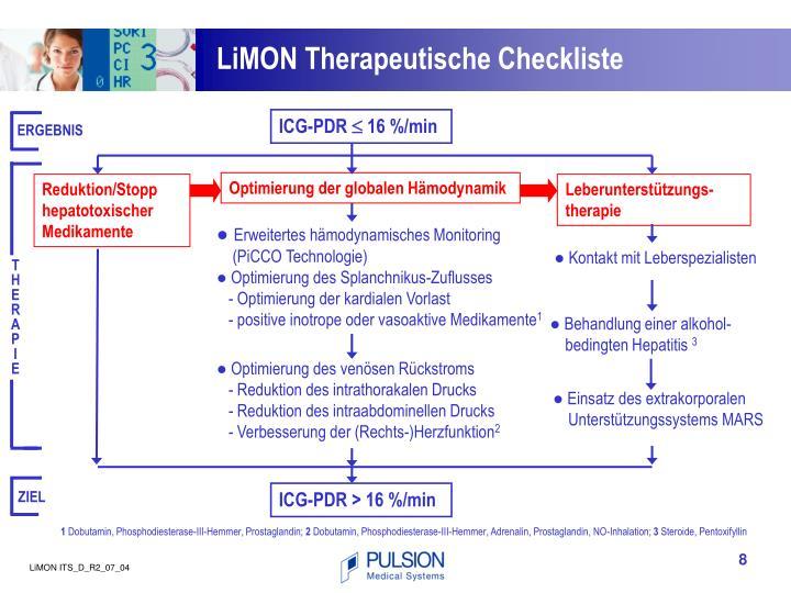 LiMON Therapeutische Checkliste