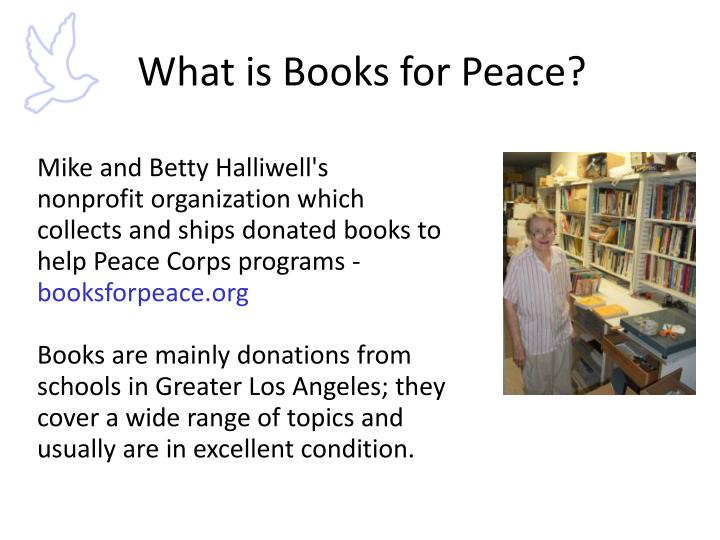 What is Books for Peace?