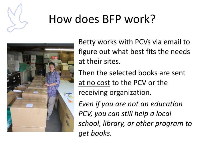 How does BFP work?