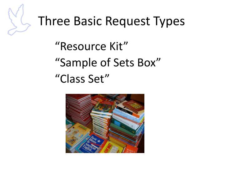 Three Basic Request Types