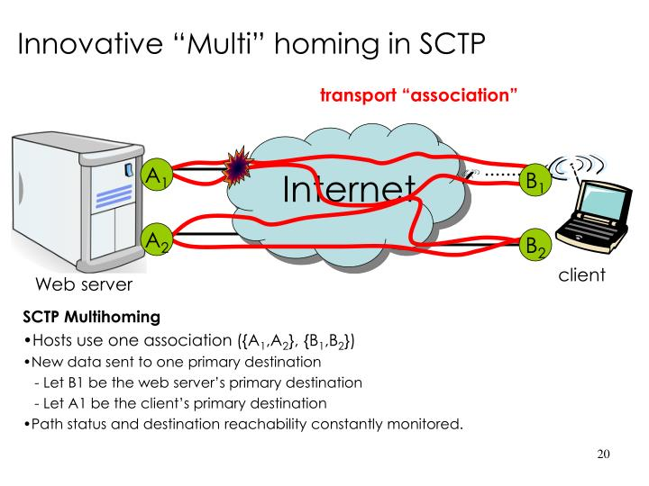 "Innovative ""Multi"" homing in SCTP"