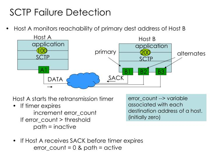 SCTP Failure Detection