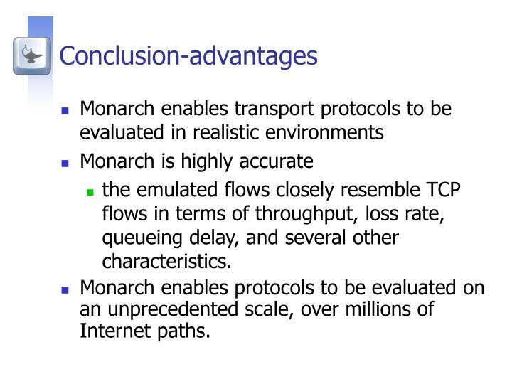 Conclusion-advantages