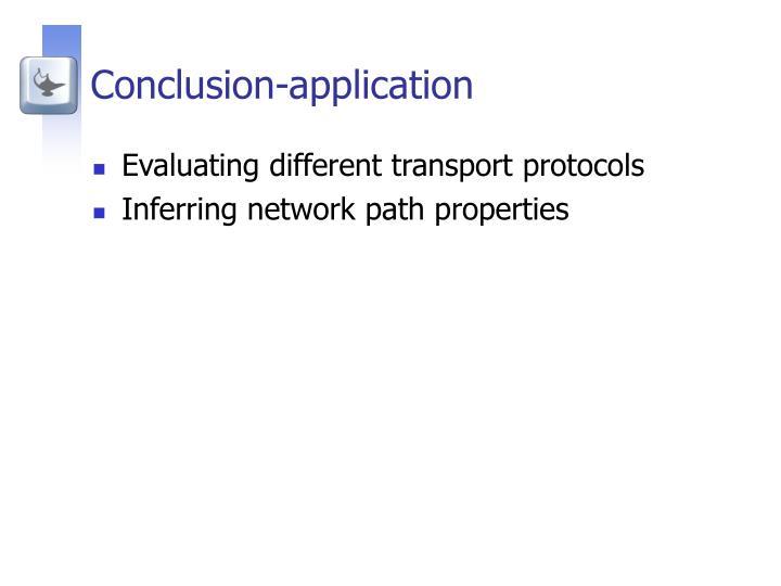 Conclusion-application