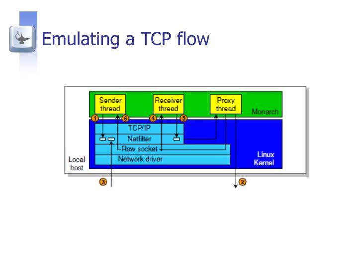 Emulating a TCP flow