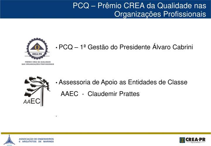 PCQ – Prêmio CREA da Qualidade nas