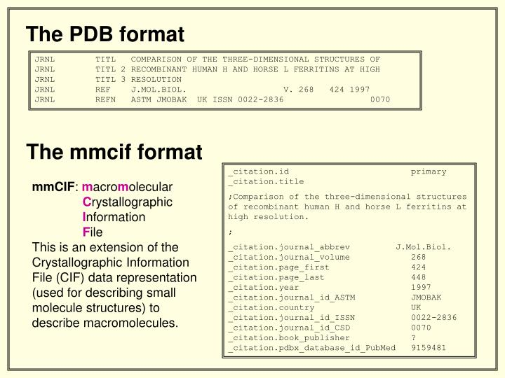 The PDB format