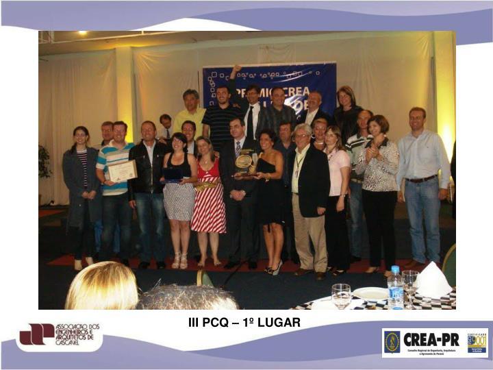 III PCQ – 1º LUGAR