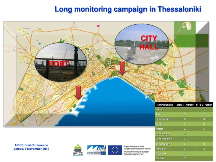 Long monitoring campaign in Thessaloniki