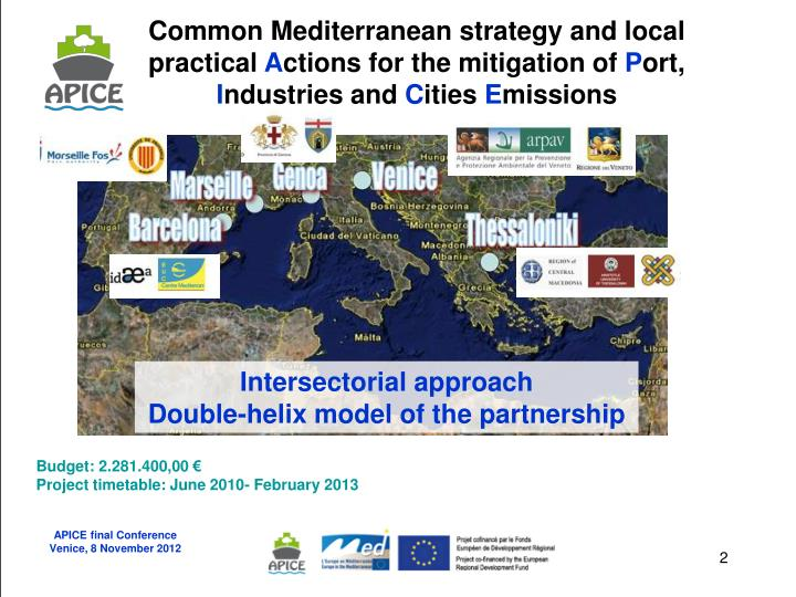 Common Mediterranean strategy and local practical