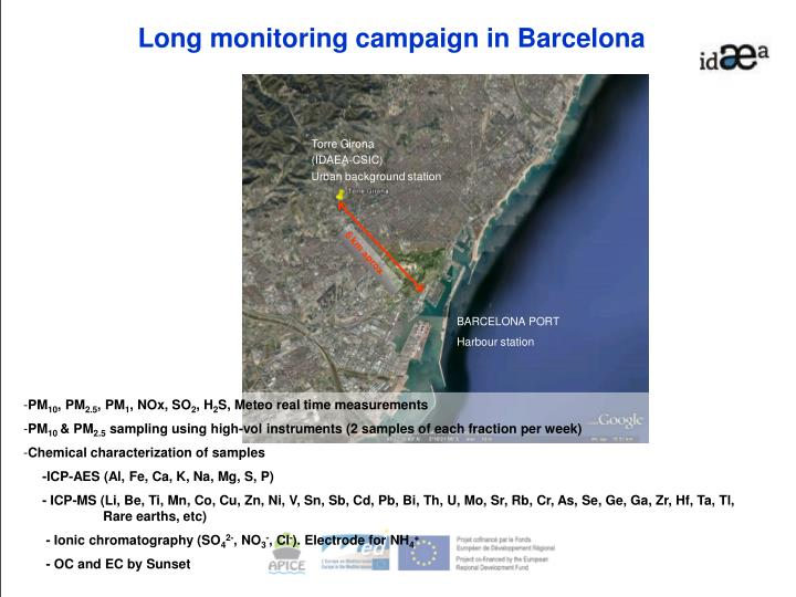 Long monitoring campaign in Barcelona