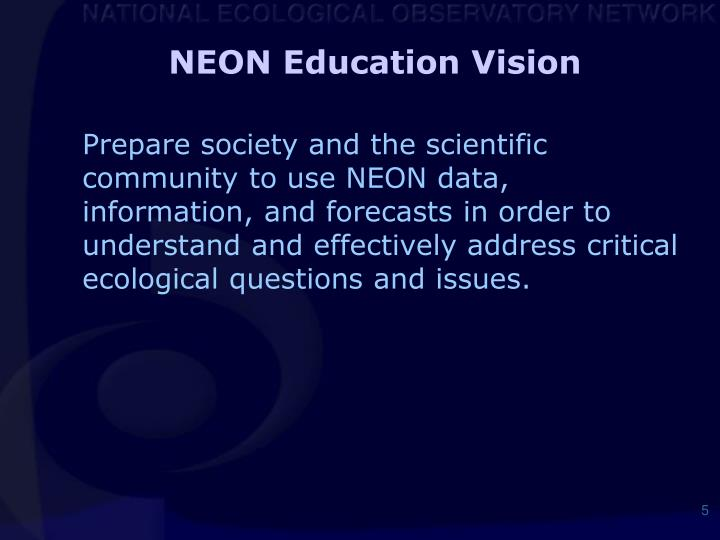 NEON Education Vision