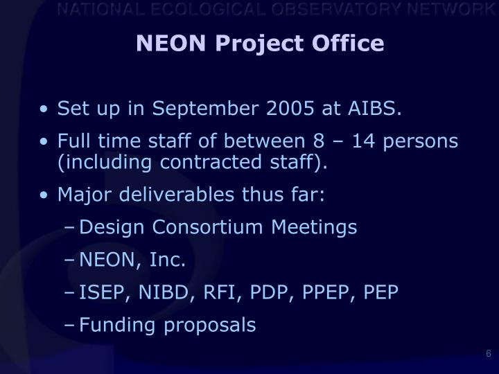 NEON Project Office