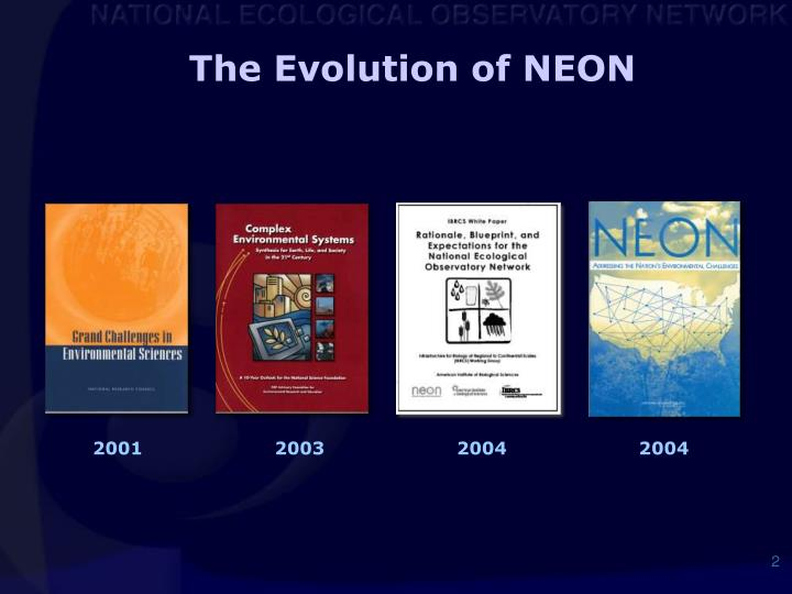 The Evolution of NEON