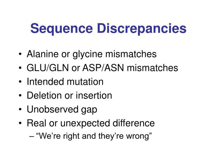 Sequence Discrepancies